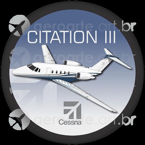 Adesivo Bolacha Cessna Citation III