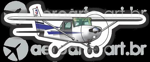 Adesivo Silhueta Cessna 152
