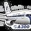 Thumbnail: Adesivo Silhueta Airbus A300 VARIG