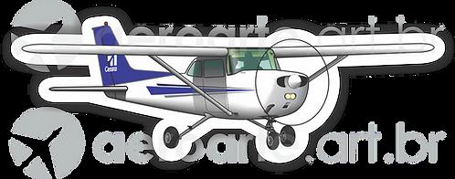 Adesivo Silhueta Cessna 172