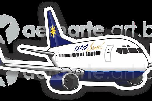 Adesivo Silhueta Boeing 737-800 VARIG