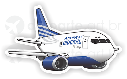 Adesivo Silhueta Boeing 737-400F Sideral