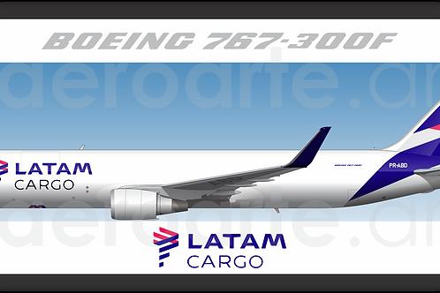 Adesivo Perfil Boeing 767-300F LATAM CARGO