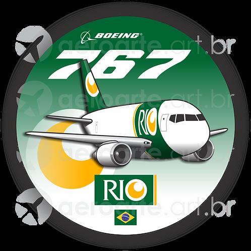 Adesivo Bolacha Boeing 767F RIO