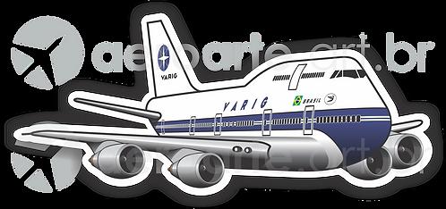 Adesivo Silhueta Boeing 747-300 VARIG