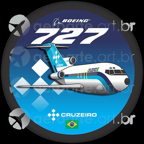 Adesivo Bolacha Boeing 727 Cruzeiro