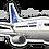 Thumbnail: Adesivo Silhueta Boeing 737-800 Copa