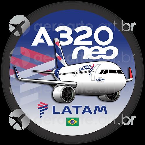 Adesivo Bolacha Airbus A320 NEO LATAM