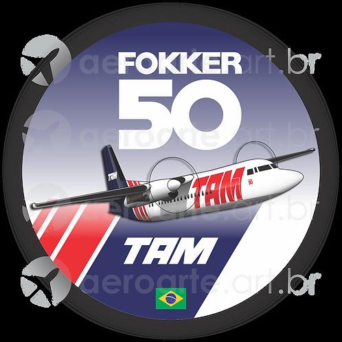 Adesivo Bolacha Fokker 50 TAM