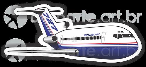 Adesivo Silhueta Boeing 727-200