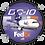 Thumbnail: Adesivo Bolacha Douglas DC-10 FedEx