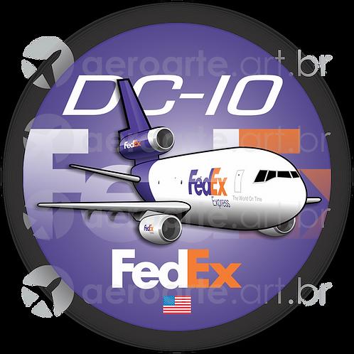 Adesivo Bolacha Douglas DC-10 FedEx