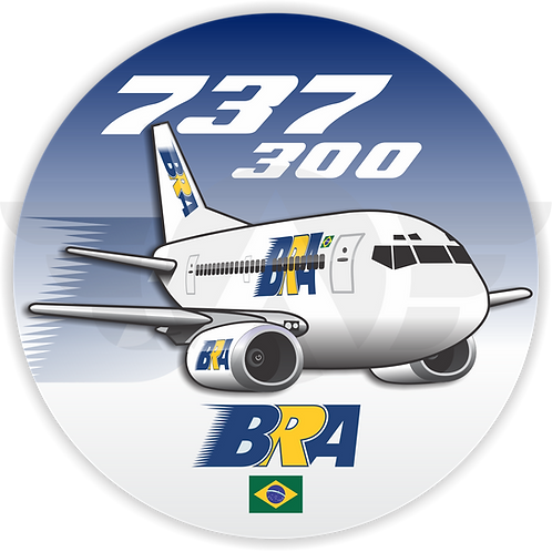 Adesivo Bolacha Boeing 737-300 BRA