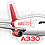 Thumbnail: Adesivo Silhueta Airbus A330F Avianca Cargo