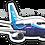 Thumbnail: Adesivo Silhueta Boeing 737-700