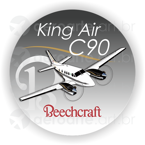 Adesivo Bolacha Beechcraft King Air C90