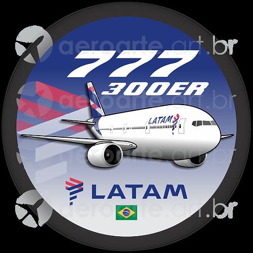 Adesivo Bolacha Boeing 777-300ER LATAM