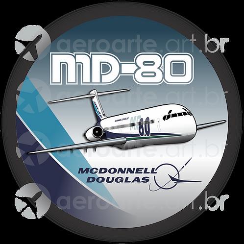 Adesivo Bolacha McDonnell Douglas MD-80