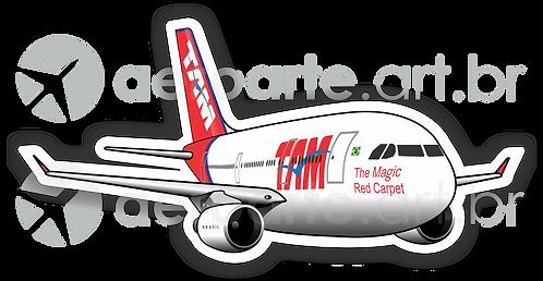 Adesivo Silhueta Airbus A330 TAM