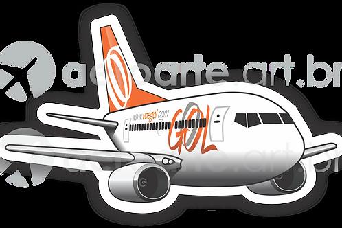 Adesivo Silhueta Boeing 737-700 GOL 1ª Pintura