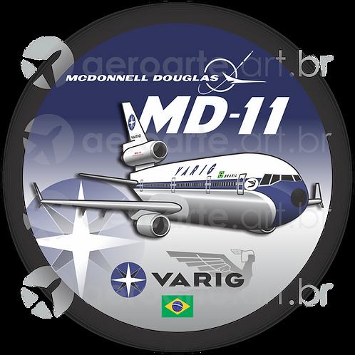 Adesivo Bolacha McDonnell Douglas MD-11 VARIG