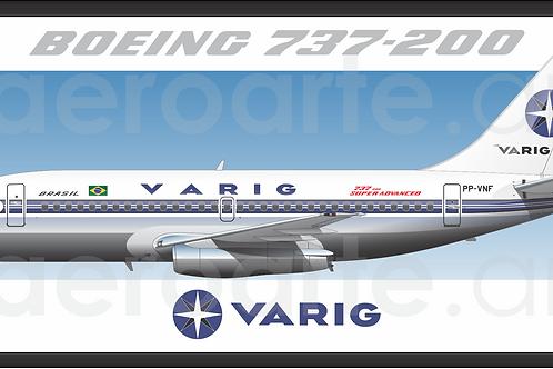 Adesivo Perfil Boeing 737-200 VARIG