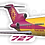 Thumbnail: Adesivo Silhueta Boeing 727 Transbrasil Vinho / Amarelo
