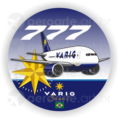 Adesivo Bolacha Boeing 777 VARIG