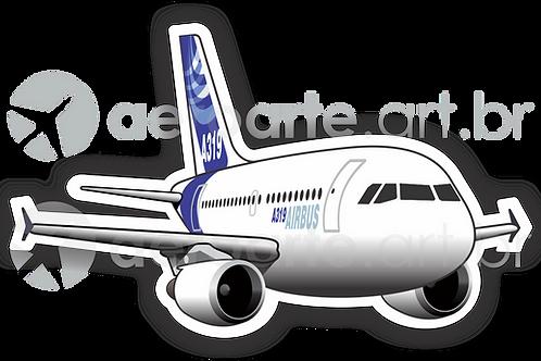 Adesivo Silhueta Airbus A319 CFM