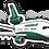 Thumbnail: Adesivo Silhueta Douglas DC-10 TUPIARANGA AIR
