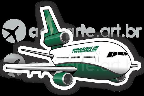 Adesivo Silhueta Douglas DC-10 TUPIARANGA AIR