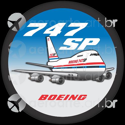 Adesivo Bolacha Boeing 747SP