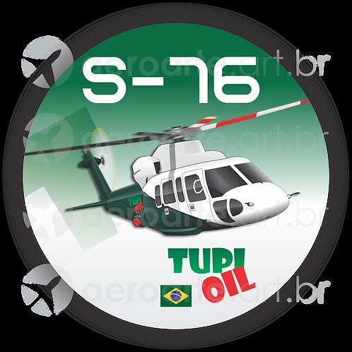 Adesivo Bolacha Sikorsky S-76 TUPI OIL