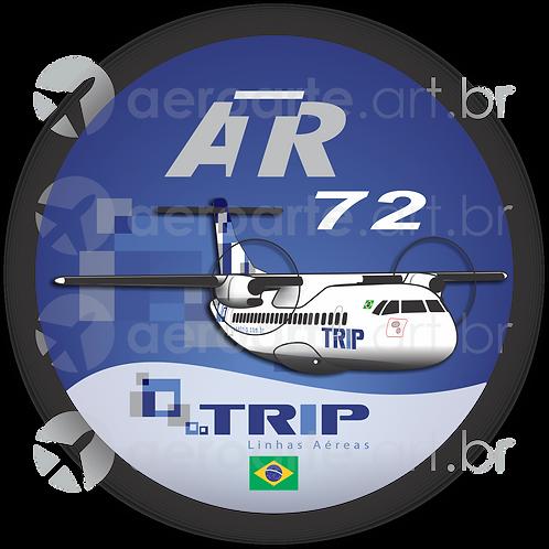 Adesivo Bolacha ATR 72 TRIP