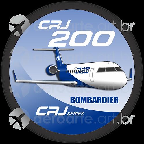 Adesivo Bolacha Bombardier CRJ-200