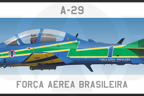 Adesivo Perfil Embraer A-29 Esquadrilha da Fumaça