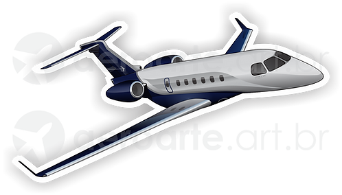 Adesivo Silhueta Embraer Legacy 500