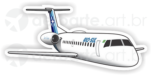 Adesivo Silhueta Embraer ERJ-145 Rio-Sul
