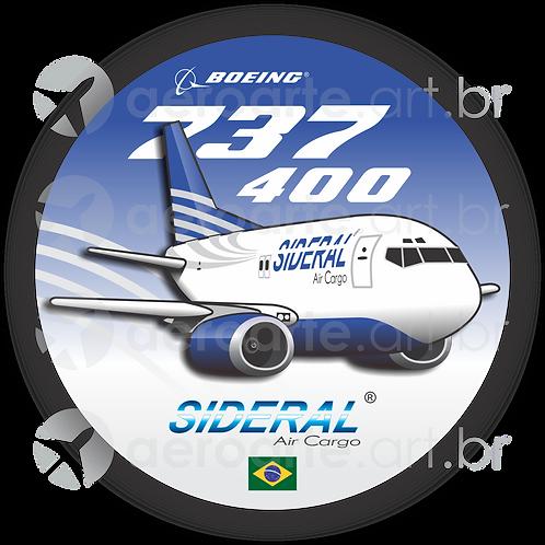 Adesivo Bolacha Boeing 737-400F Sideral