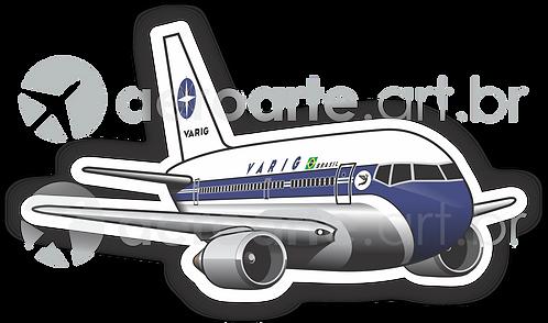 Adesivo Silhueta Boeing 767 VARIG