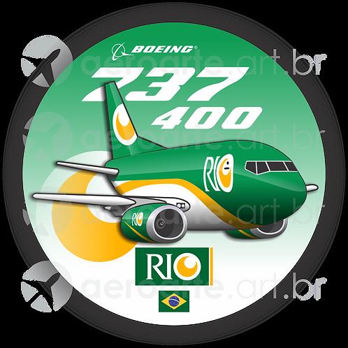 Adesivo Bolacha Boeing 737-400F RIO