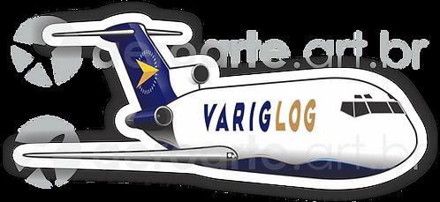 Adesivo Silhueta Boeing 727-200F VARIG LOG
