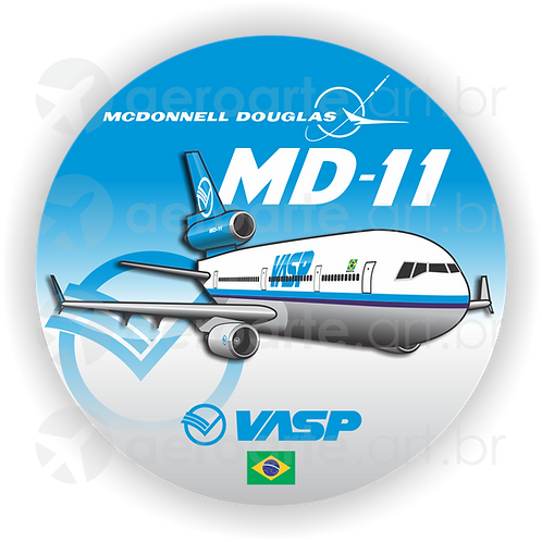 Adesivo Bolacha McDonnell Douglas MD-11 VASP