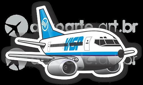 Adesivo Silhueta Boeing 737-300 VASP