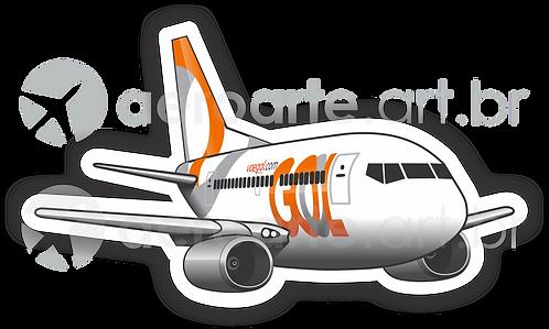 Adesivo Silhueta Boeing 737-700 GOL 3ª Pintura
