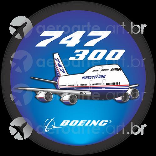 Adesivo Bolacha Boeing 747-300