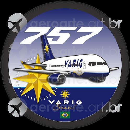 Adesivo Bolacha Boeing 757 VARIG