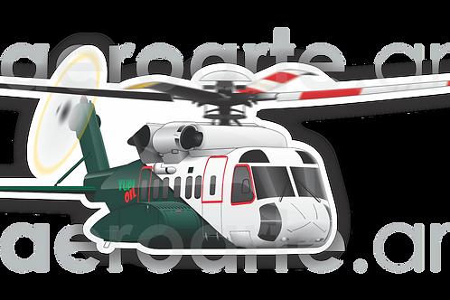 Adesivo Silhueta Sikorsky S-92 Tupi Oil