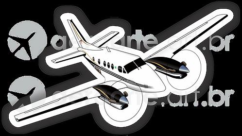 Adesivo Silhueta Beechcraft King Air C90