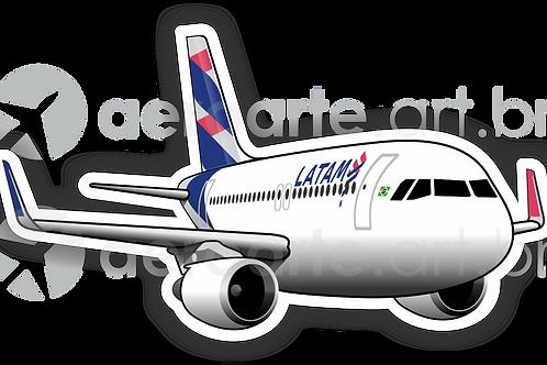 Adesivo Silhueta Airbus A320 LATAM